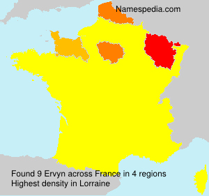 Surname Ervyn in France
