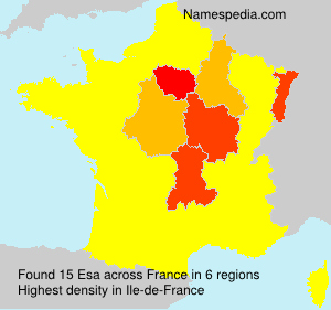 Surname Esa in France