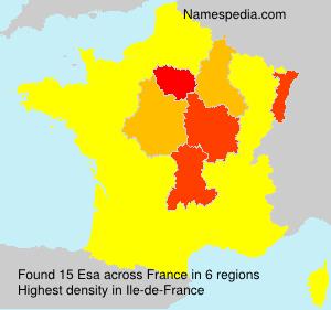 Surname Esa in France