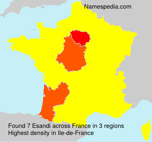 Surname Esandi in France