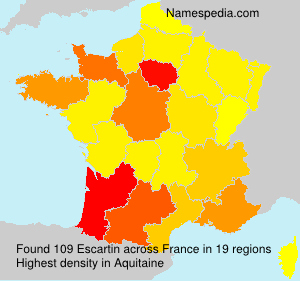 Familiennamen Escartin - France