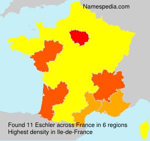 Surname Eschler in France