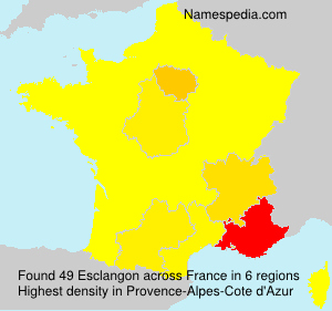 Surname Esclangon in France