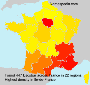 Surname Escobar in France
