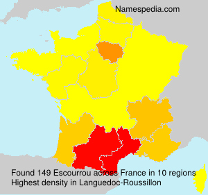 Surname Escourrou in France
