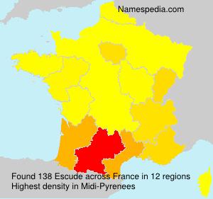 Surname Escude in France