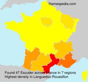 Familiennamen Escuder - France