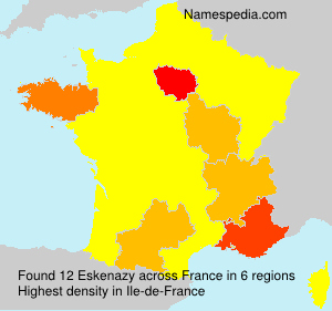 Surname Eskenazy in France