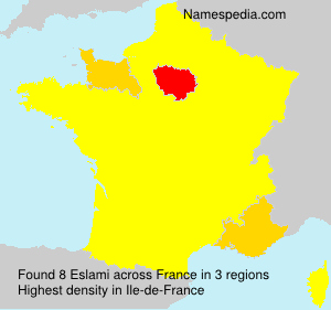 Surname Eslami in France