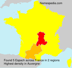 Surname Espach in France