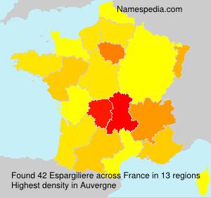 Surname Espargiliere in France