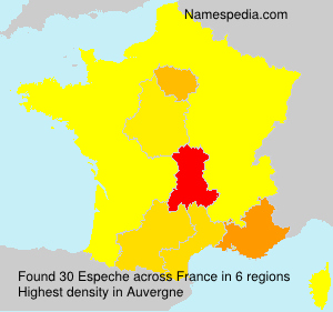 Surname Espeche in France