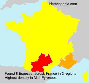 Surname Espesset in France