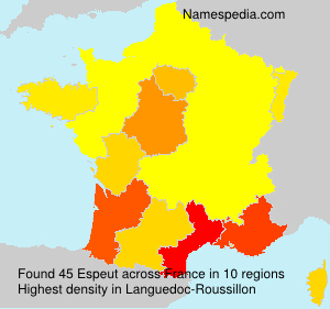 Surname Espeut in France