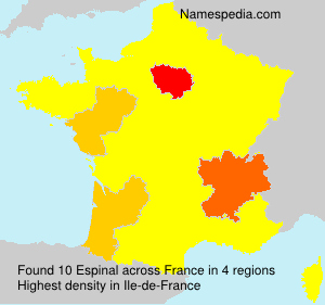 Surname Espinal in France