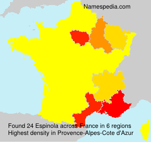 Surname Espinola in France