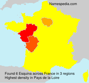 Surname Esquina in France