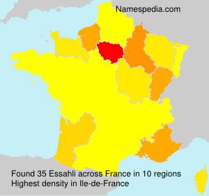 Surname Essahli in France