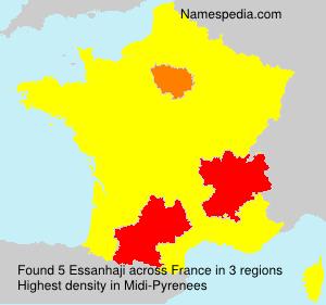 Surname Essanhaji in France