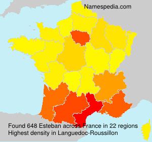 Familiennamen Esteban - France