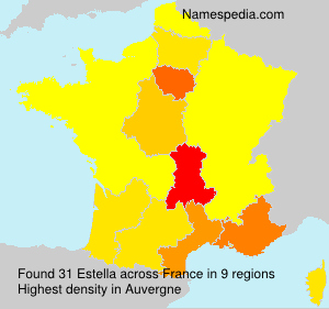 Surname Estella in France