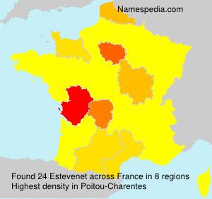 Surname Estevenet in France