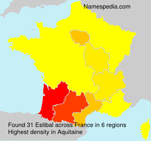 Surname Estibal in France
