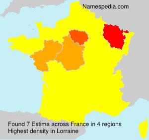 Familiennamen Estima - France