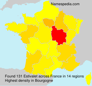 Surname Estivalet in France