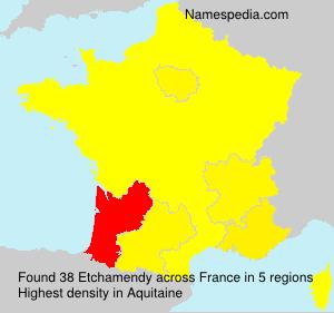 Surname Etchamendy in France
