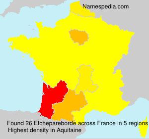 Surname Etchepareborde in France
