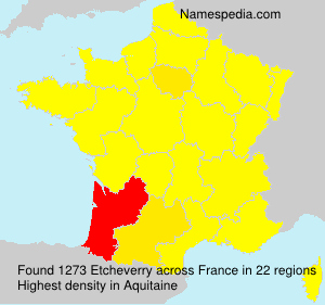 Surname Etcheverry in France