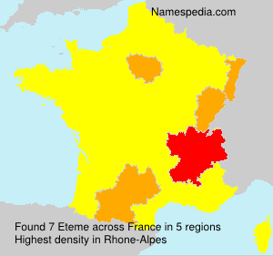 Surname Eteme in France