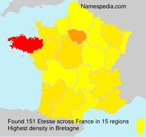 Surname Etesse in France