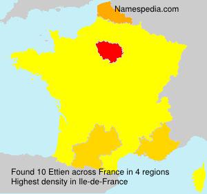 Surname Ettien in France