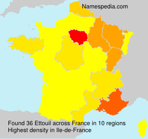Surname Ettouil in France