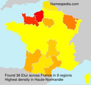 Familiennamen Etur - France