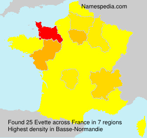 Surname Evette in France