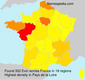 Familiennamen Evin - France