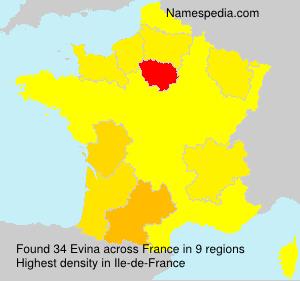 Surname Evina in France