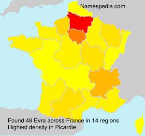 Surname Evra in France