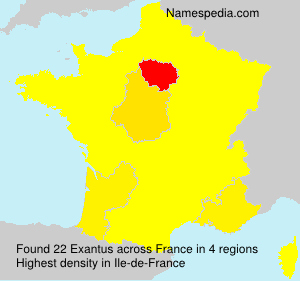 Surname Exantus in France