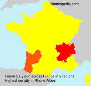 Surname Eyigun in France