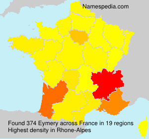 Surname Eymery in France