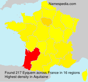 Surname Eyquem in France