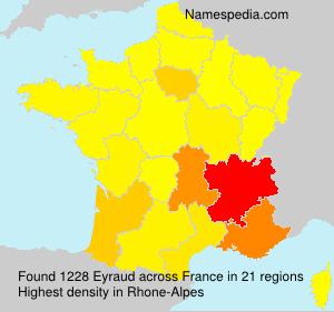 Familiennamen Eyraud - France