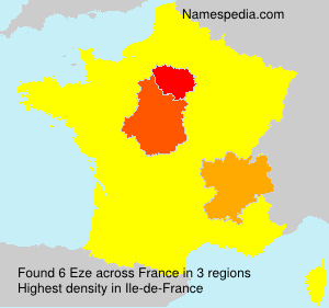 Surname Eze in France