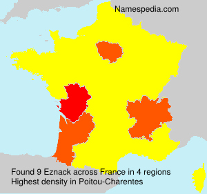 Surname Eznack in France