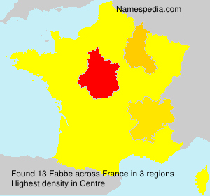 Surname Fabbe in France