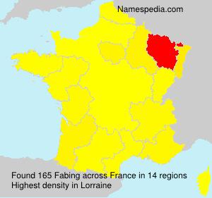 Familiennamen Fabing - France